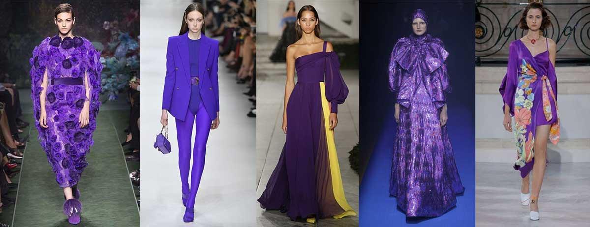 Colore del 2018 viola Pantone Ultra Violet - passerella